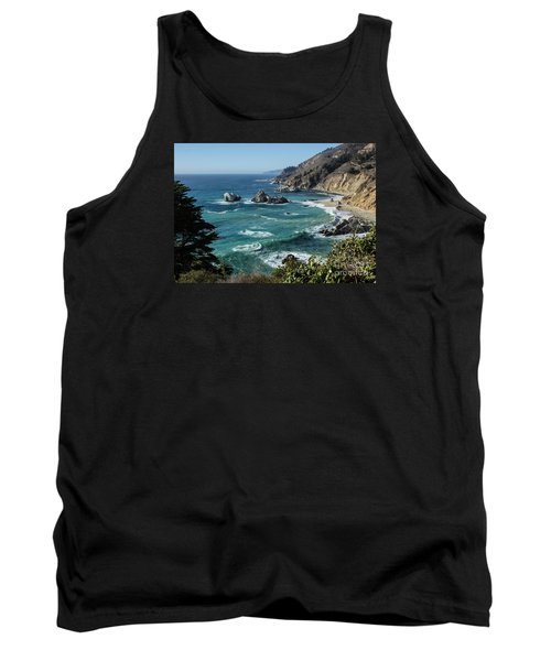 Big Sur Coast From Julia Pfeiffer Burns Tank Top by Suzanne Luft