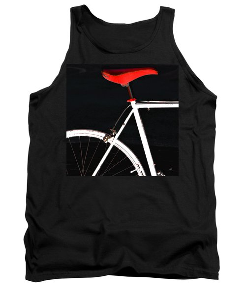 Bike In Black White And Red No 1 Tank Top by Ben and Raisa Gertsberg