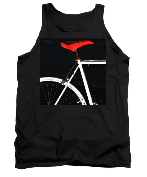 Bike In Black White And Red No 1 Tank Top