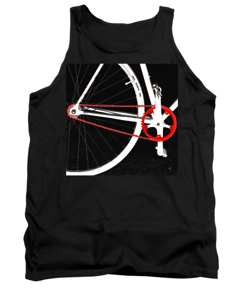 Bike In Black White And Red No 2 Tank Top by Ben and Raisa Gertsberg