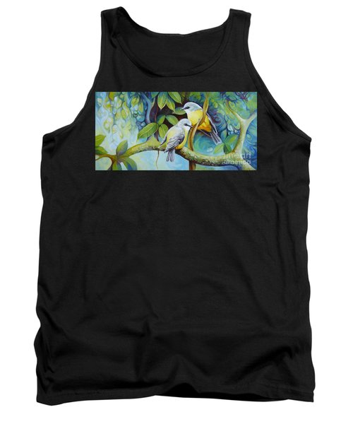 Tank Top featuring the painting Birds by Elena Oleniuc