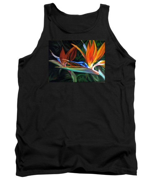 Birds Of Paradise Tank Top by LaVonne Hand