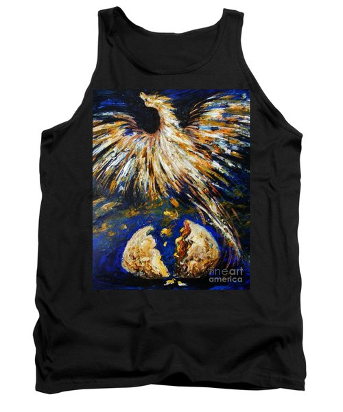 Tank Top featuring the painting Birth Of The Phoenix by Karen  Ferrand Carroll
