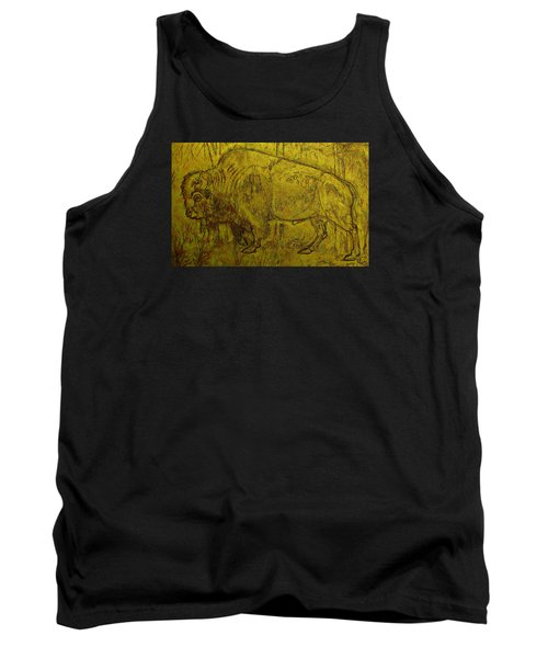 Golden  Buffalo Tank Top by Larry Campbell