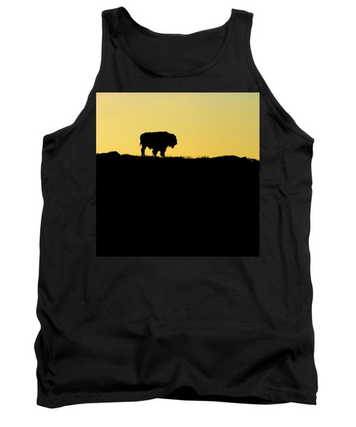 Tank Top featuring the photograph Bison Sunrise by Sonya Lang