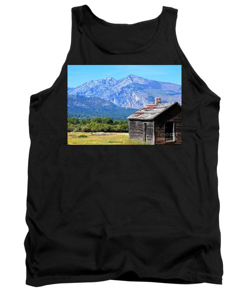 Tank Top featuring the photograph Bitterroot Valley Cabin by Joseph J Stevens