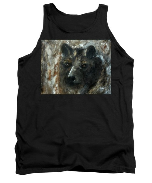 Tank Top featuring the painting Bjomolf - Bear Wolf by Barbie Batson