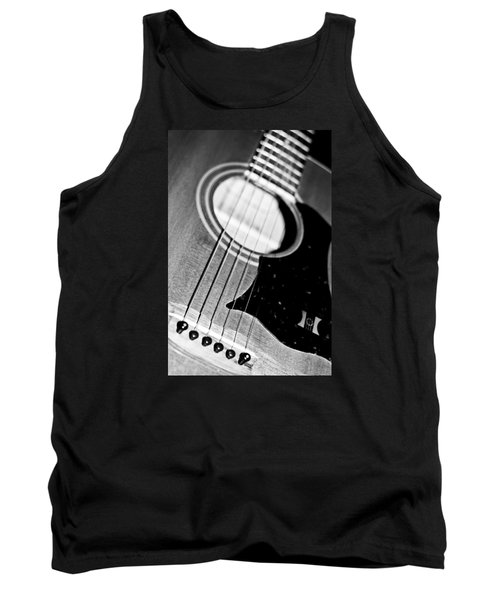 Black And White Harmony Guitar Tank Top