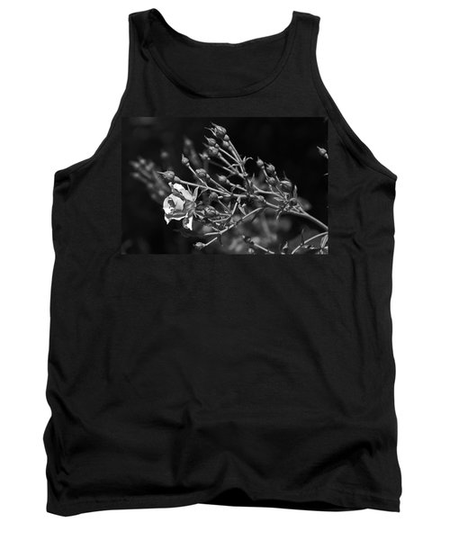 Black And White Rose Tank Top