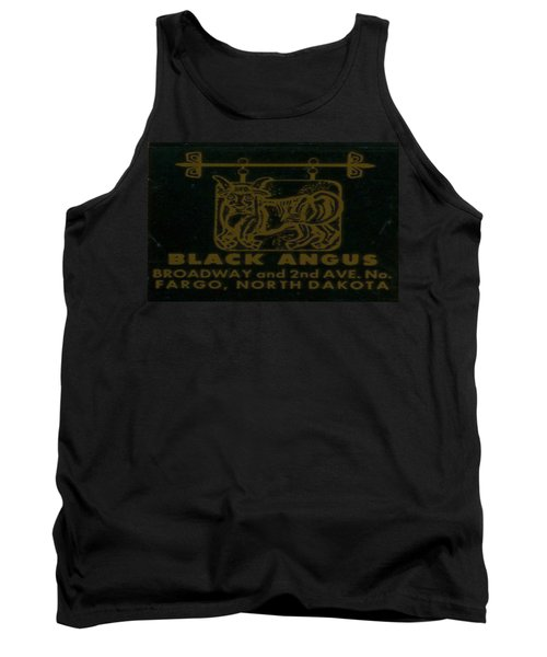 Tank Top featuring the digital art Black Angus by Cathy Anderson