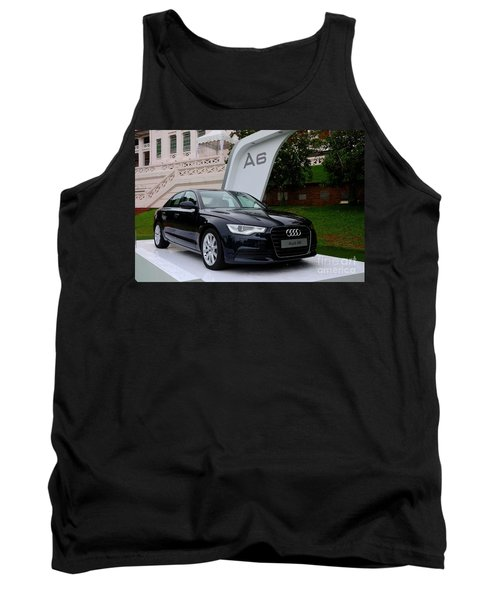 Black Audi A6 Classic Saloon Car Tank Top by Imran Ahmed
