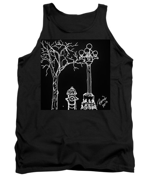 Tank Top featuring the drawing Black Book 08 by Rand Swift