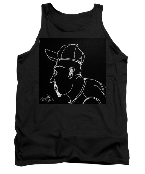 Tank Top featuring the drawing Black Book 19 by Rand Swift