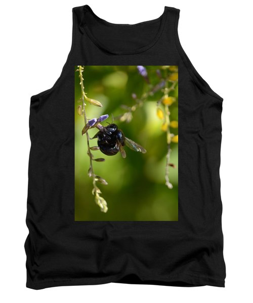 Black Bumblebee Tank Top by Debra Martz