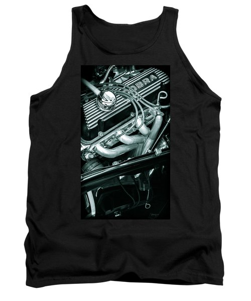 Tank Top featuring the photograph Black Cobra - Ford Cobra Engines by Steven Milner