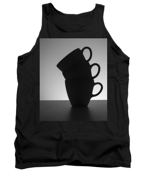 Tank Top featuring the photograph Black Coffee Cups by Steven Milner