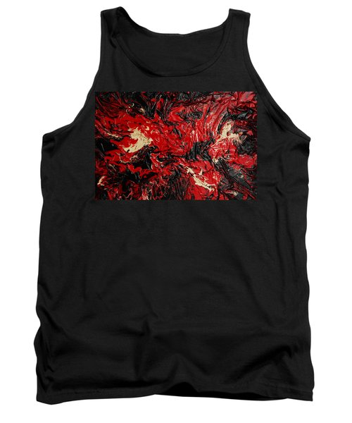 Black Cracks With Red Tank Top