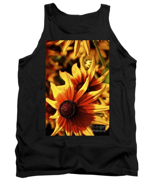 Black Eyed Susan Tank Top by Linda Bianic