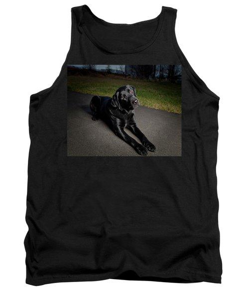 Black Labrador Retriever Lying Down Tank Top