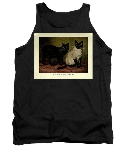 Black Manx And Royal Siamese Cats Tank Top