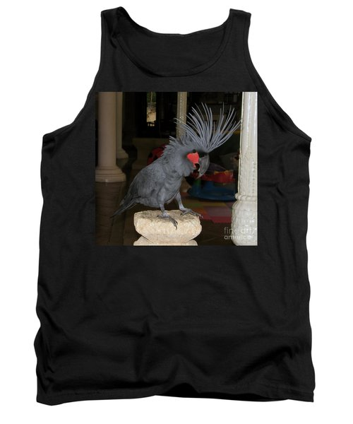 Black Palm Cockatoo Tank Top by Sergey Lukashin