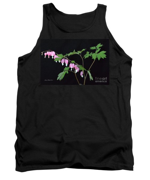 Tank Top featuring the photograph Bleeding Hearts 2 by Jeannie Rhode