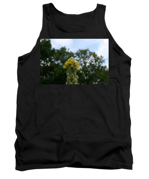 Tank Top featuring the photograph Blended Golden Rod Crab Spider On Mullein Flower by Neal Eslinger