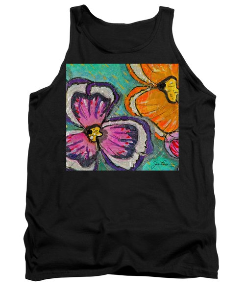 Tank Top featuring the painting Blooming Flowers by Joan Reese