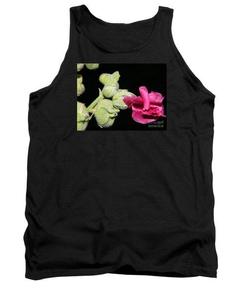Blooming Pink Hollyhock Tank Top