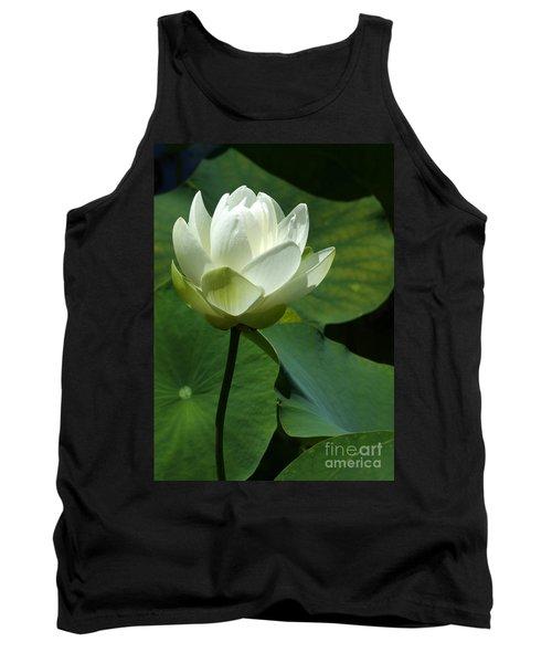 Blooming White Lotus Tank Top