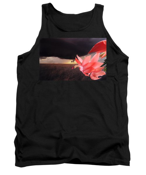 Blooms Against Tornado Tank Top