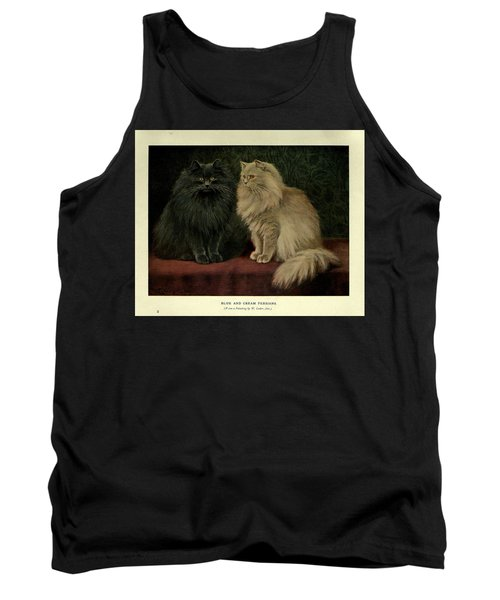 Blue And Cream Persians Tank Top