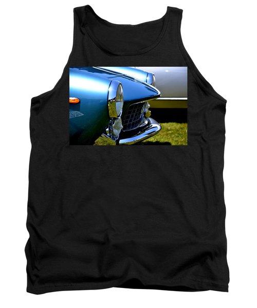 Tank Top featuring the photograph Blue Car by Dean Ferreira