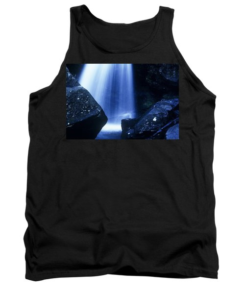 Tank Top featuring the photograph Blue Falls by Rodney Lee Williams
