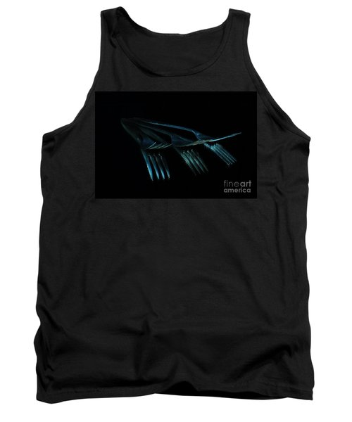 Tank Top featuring the photograph Blue Forks by Randi Grace Nilsberg