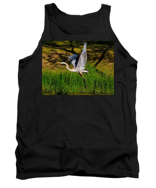 Blue Heron In Flight Tank Top