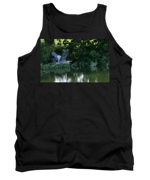 Blue Heron Take-off Tank Top