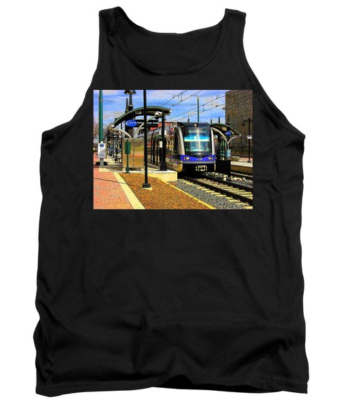 Tank Top featuring the photograph Blue Line by Rodney Lee Williams