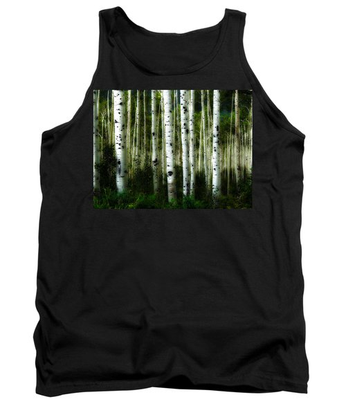 Tank Top featuring the photograph Blue Mood Aspens I by Lanita Williams