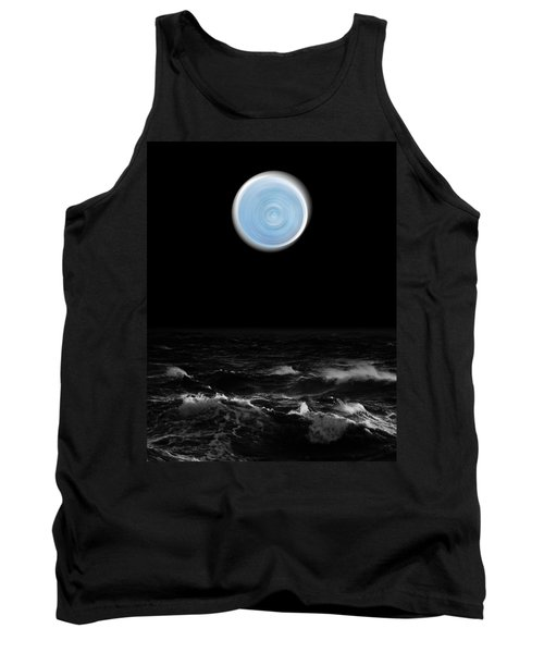 Blue Moon Over The Sea Tank Top