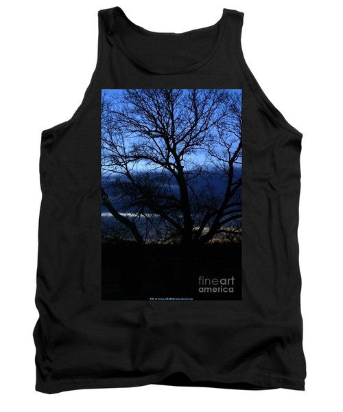 Tank Top featuring the photograph Blue Moon Sunrise by PainterArtist FIN