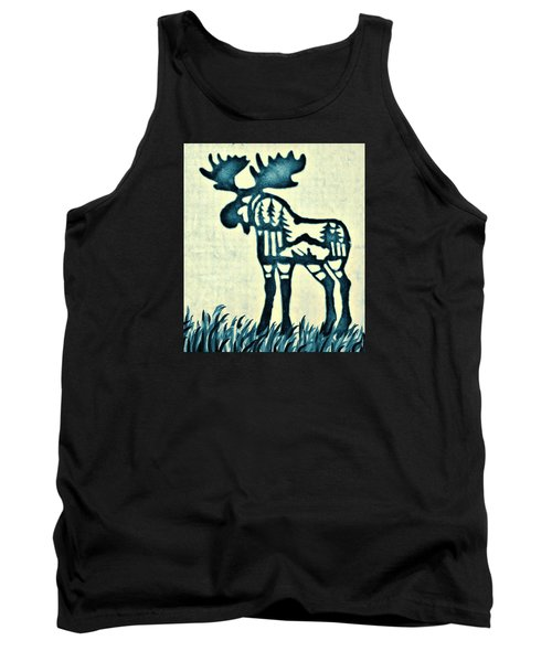 Blue Moose Tank Top by Larry Campbell