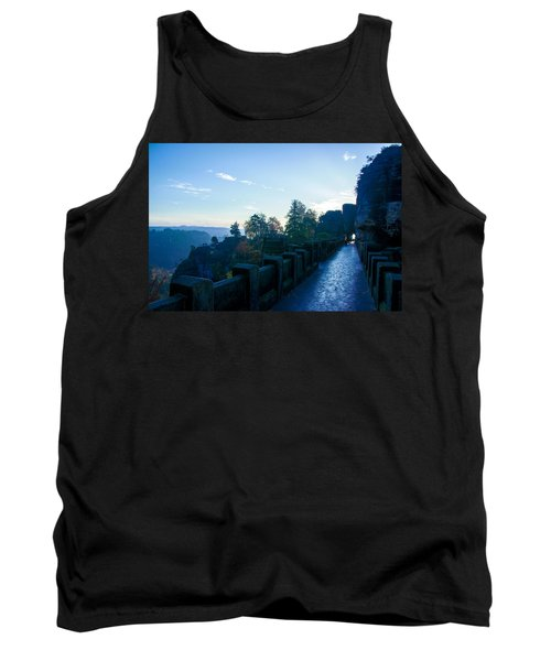 Blue Morning On The Bastei Tank Top