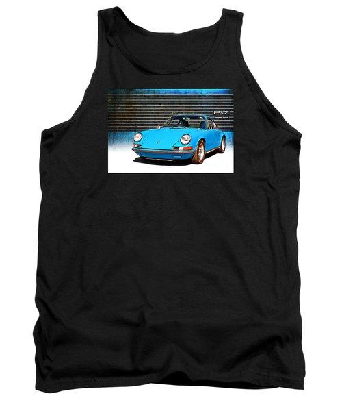 Blue Porsche 911 Tank Top