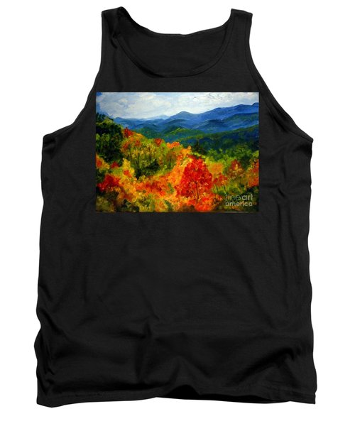 Blue Ridge Mountains In Fall Tank Top by Julie Brugh Riffey