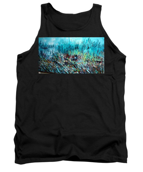 Blue Skies Chicago - Sold Tank Top by George Riney