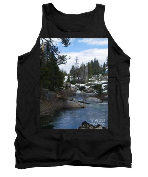 Tank Top featuring the photograph Blue Skies Of Winter by Bobbee Rickard