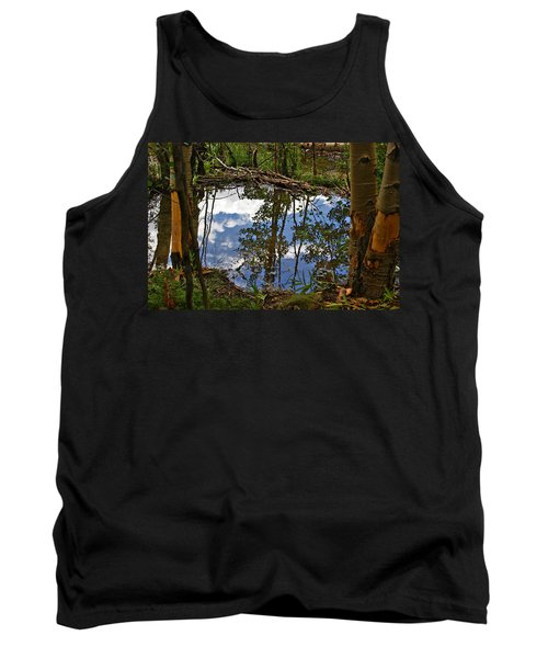 Tank Top featuring the photograph Blue Sky Reflecting by Jeremy Rhoades
