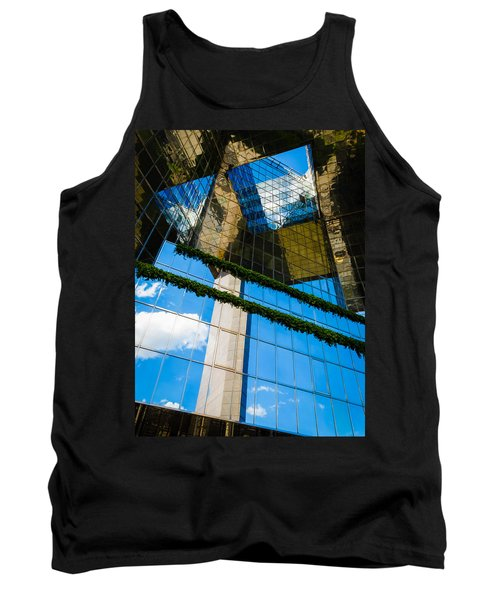 Tank Top featuring the photograph Blue Sky Reflections On A London Skyscraper by Peta Thames