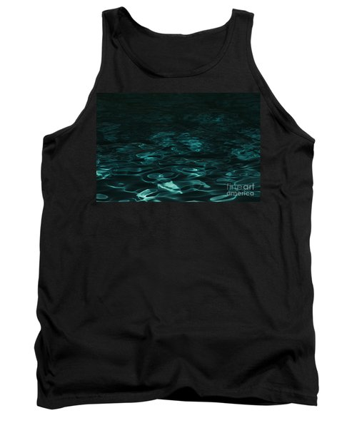 Tank Top featuring the photograph Blue Swirl One by Chris Thomas